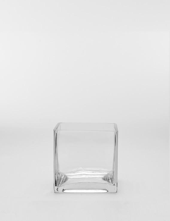 SQUARE GLASS VASE SMALL