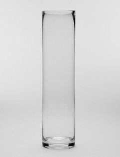 CYLINDRICAL GLASS VASE