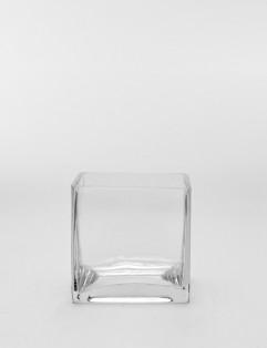 SQUARE GLASS VASE MEDIUM