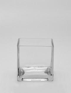 SQUARE GLASS VASE LARGE