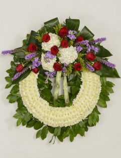 RED AND LAVENDER WREATH