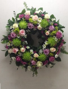 GREEN AND PINK WREATH