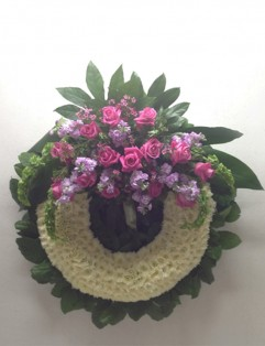 PINK AND LAVENDER WREATH