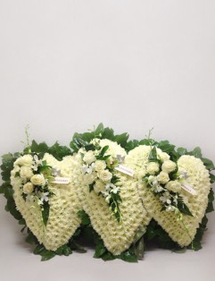 TRIPLE WHITE HEARTS